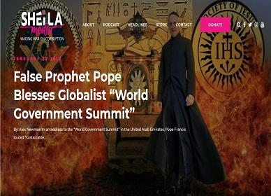 "False Prophet Pope Blesses Globalist ""World Government Summit"""