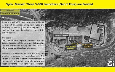 Images show S-300 air defense batteries in Syria likely turning operational