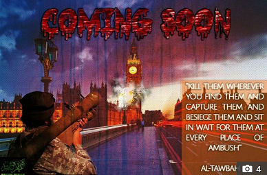 'YOU WILL BURN' Sick ISIS supporters threaten to bomb London and New York and attack a plane in chilling terror posters