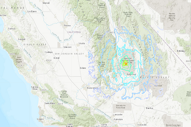 Magnitude-5.0 Earthquake Rattles Little Lake Area, 20 Miles From Ridgecrest