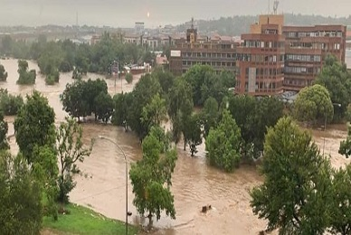 Major floods hit the city of Pretoria, South Africa