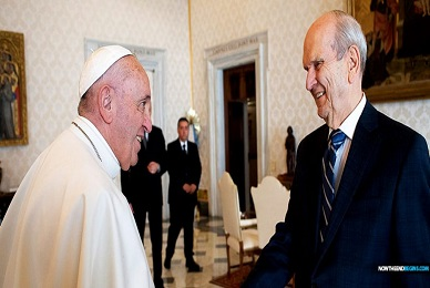 Pope Francis Hold Unprecedented Closed-Door End Times Meeting With Head Of The Mormon Church
