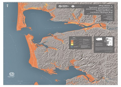 Pacific Northwest destruction after massive Cascadia earthquake and tsunami
