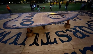 World's Largest Ouija Board Built in Salem Massachusetts to 'Summon the World's Largest Ghost'