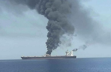US Navy: 2 oil tankers damaged in Sea of Oman; shipping firm: 'suspected attack'