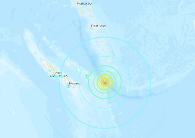 M7.5, M6.0 and M6.6 earthquakes hit off New Caledonia within 3 hours