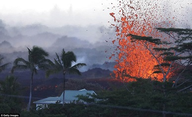 Fountains of lava spewing 200ft HIGH and bombs the size of fridges