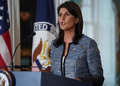 Nikki Haley: UNHRC's Agenda 7 is 'directed against Israel's existence'