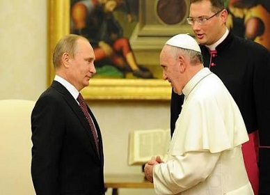 "Putin slams Pope Francis, ""he's not a man of God"""