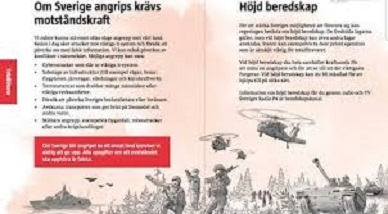 Sweden distributes 4.8 million leaflets demanding their citizens be prepared for WAR – are they referring to Russia or Muslim migrants?
