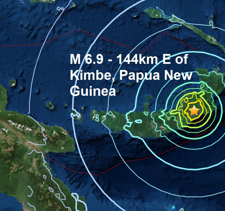 Another powerful quake strikes Papua New Guinea