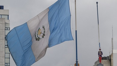 Guatemalan flag flies over new embassy building in Jerusalem